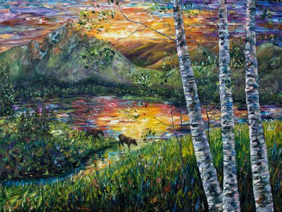 Sleeping Meadow-Olena Art-Art Print