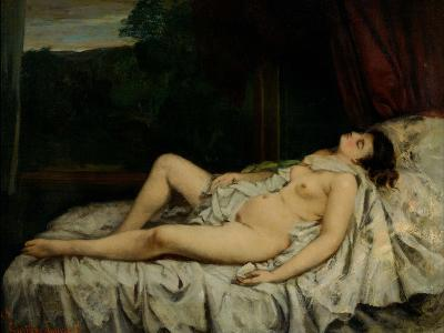 Sleeping Nude-Gustave Courbet-Photographic Print