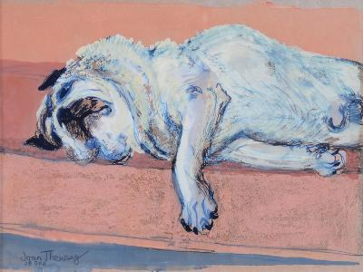 Sleeping Pug Two, 2000-Joan Thewsey-Giclee Print