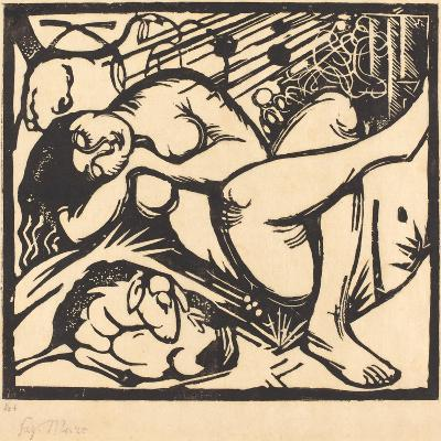 Sleeping Shepherdess (Schlafende Hirtin), 1912-Franz Marc-Giclee Print