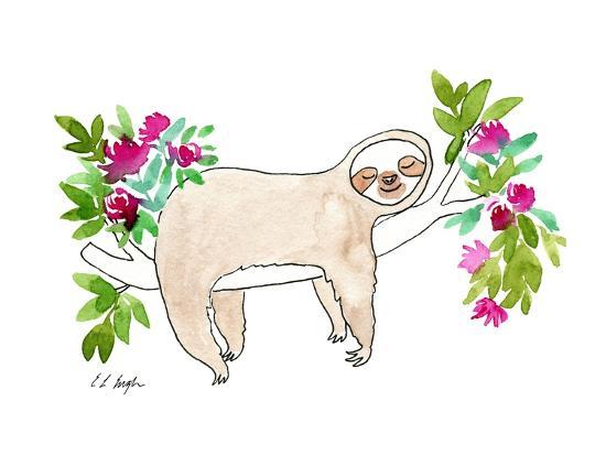 Sleeping Sloth-Elise Engh-Art Print