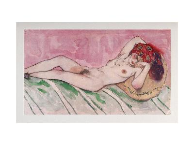 Sleeping Sultan's Wife, 1916-L?on Bakst-Giclee Print