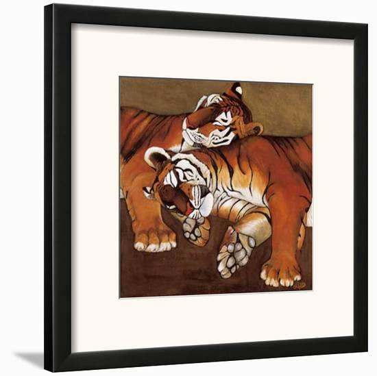 Sleeping Tigers-LISA BENOUDIZ-Framed Art Print