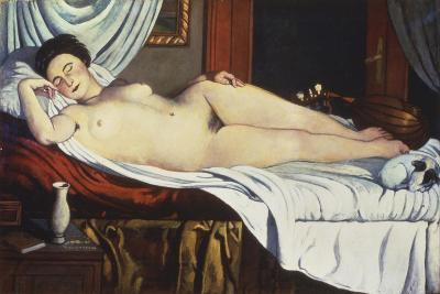 Sleeping Venus, (Naked Woman on a Bed) Woman-Pietro Marussig-Art Print