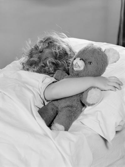 Sleeping With Teddy Bear-H^ Armstrong Roberts-Photographic Print
