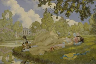 Sleeping Woman in a Park, 1922-Konstantin Andreyevich Somov-Giclee Print