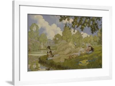 Sleeping Woman in a Park, 1922-Konstantin Andreyevich Somov-Framed Giclee Print