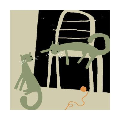 Sleepy Cats after Playtime--Art Print