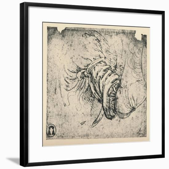 'Sleeve study for The Annunciation', 1470-1473 (1945)-Leonardo da Vinci-Framed Giclee Print
