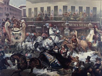 Sleighing in New York 1855-Thomas Benecke-Giclee Print