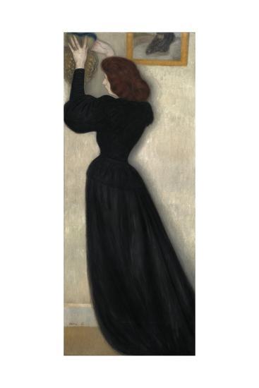 Slender Woman with Vase, 1894-Jozsef Rippl-Ronai-Giclee Print