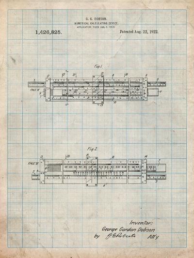 Slide Rule Patent-Cole Borders-Art Print