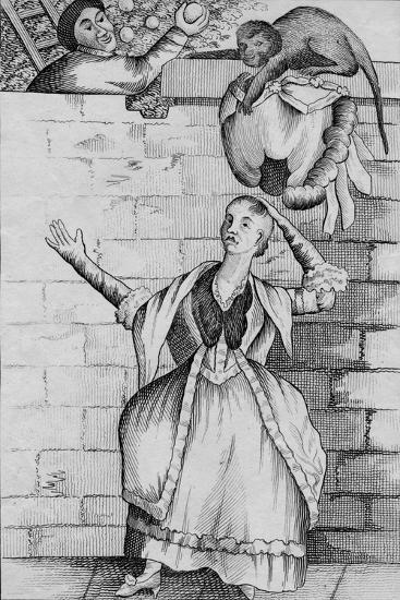 'Slight of hand by a Monkey - or the Ladys head unloaded', c1812-Unknown-Giclee Print