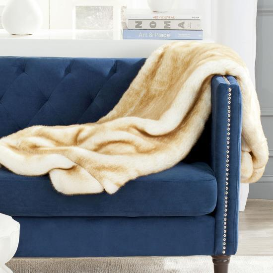 Slinky Minky Throw - Crème Brulee--Home Accessories