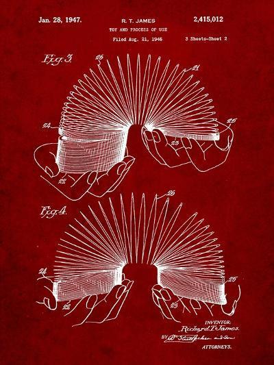 Slinky Toy Patent-Cole Borders-Art Print