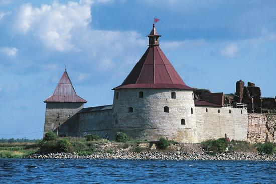 Slisselburg Fortress, also known as Petrokrepost or Oresek Fortress in Lake Ladoga, Russia--Photographic Print