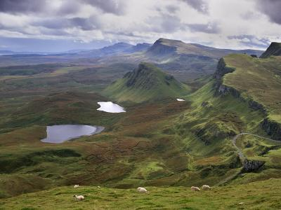 Slopes of the Quiraing, Northeast Coast of Trotternish Peninsula, Isle of Skye, Scotland-Patrick Dieudonne-Photographic Print
