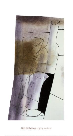 Sloping Vertical, 1981-Ben Nicholson-Art Print