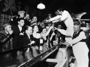 Sloppy Joe's Bar, in Downtown Chicago, after the Repeal of Prohibition. December 5, 1933