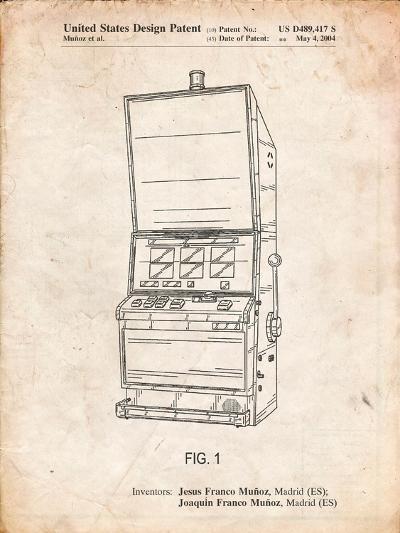 Slot Machine Patent-Cole Borders-Art Print