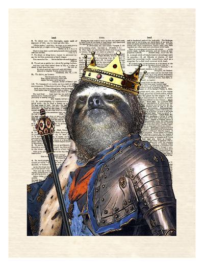 Sloth King-Matt Dinniman-Art Print
