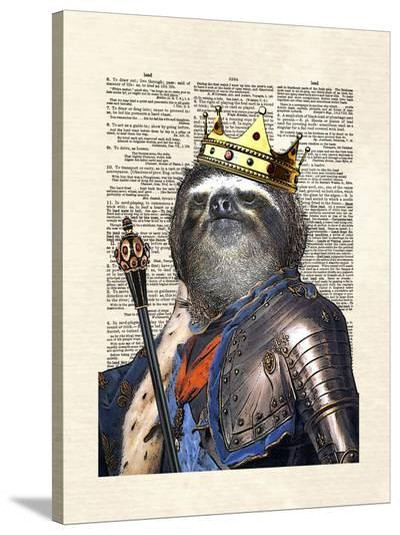 Sloth King-Matt Dinniman-Stretched Canvas Print