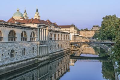 Slovenia, Ljubljana, Ljubljana River and Old Town at Dawn-Rob Tilley-Photographic Print