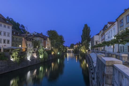 Slovenia, Ljubljana, Ljubljana River at Dawn-Rob Tilley-Photographic Print
