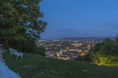 Slovenia, Ljubljana, Old Town at Dawn-Rob Tilley-Photographic Print