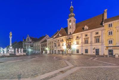 Slovenia, Maribor, Maribor Town Hall Square at Dawn-Rob Tilley-Photographic Print