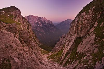 Slovenia, Mountains, Rocks, View, Evening Light-Rainer Mirau-Photographic Print