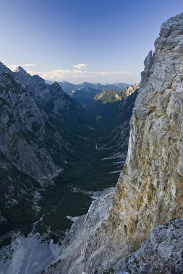 Slovenia, Triglav National Park, Karst Formation and Valley in Canyon-Rainer Mirau-Photographic Print