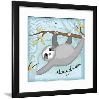 Slow Down Sloth-Jennifer Pugh-Framed Art Print
