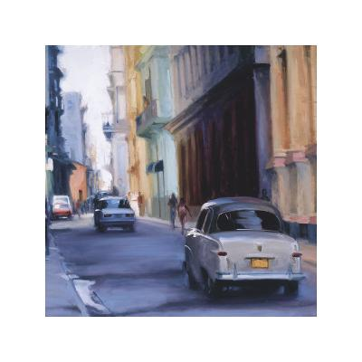 Slow Ride - Havana, Cuba-Keith Wicks-Giclee Print