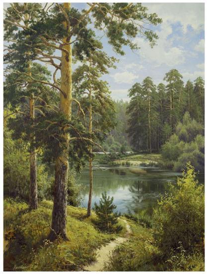 Slowly River II-Igor Priscepa-Art Print