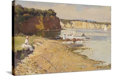 Slumbering sea, Mentone-Tom Roberts-Stretched Canvas Print
