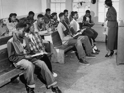 Small and Over-Crowded African-American School Is Really a One Room Baptist Church-Ed Clark-Photographic Print