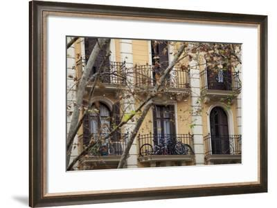 Small Apartments with Patios are a Common Sight in Downtown Barcelona, Spain-Paul Dymond-Framed Photographic Print