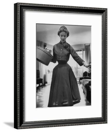 Small Bag Wardrobe Fashion-Gordon Parks-Framed Premium Photographic Print