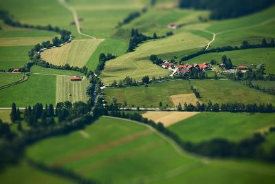 Small Bavarian Village in a Fields, Germany. Pseudo Tilt Shift Effect-Dudarev Mikhail-Photographic Print