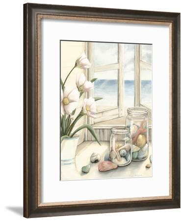 Small Beach House View I-Megan Meagher-Framed Art Print