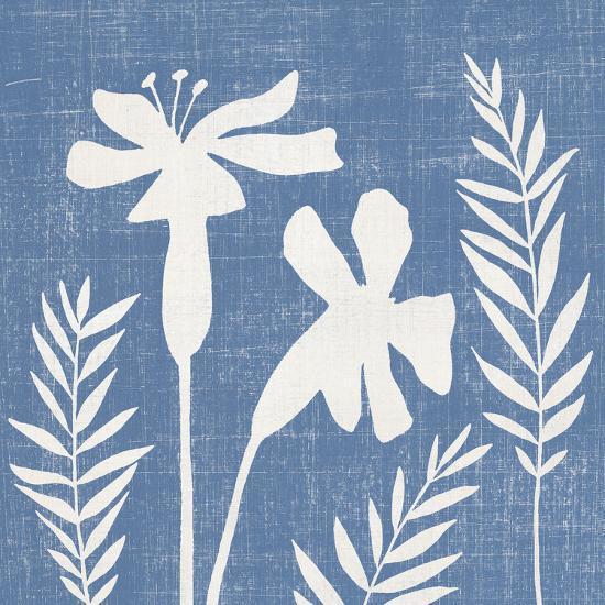Small Blue Linen II-Megan Meagher-Art Print