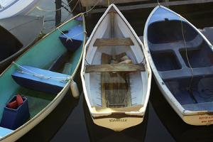 Small Boats Along Bar Harbor Pier, Mount Desert Island on the Atlantic Coast of Maine