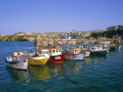 Small Boats in the Harbour, Newquay, Cornwall, England, UK-Roy Rainford-Photographic Print