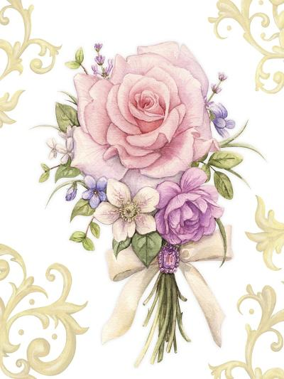 Small Bouquet with a White Bow-Maria Rytova-Giclee Print