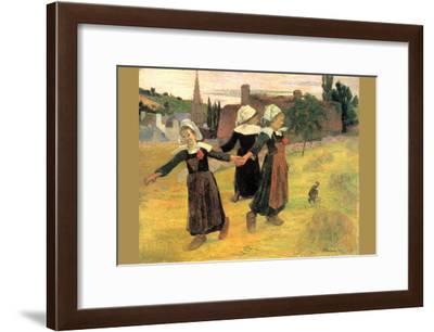 Small Breton Women-Paul Gauguin-Framed Art Print