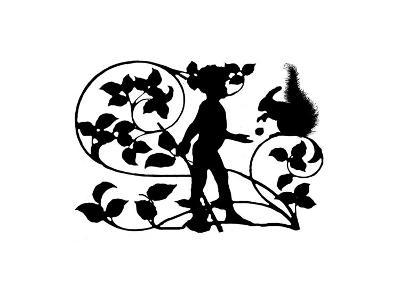 Small Child's Silhouette I-Vision Studio-Art Print