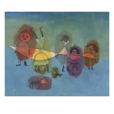 Small Children; Kindergruppe-Paul Klee-Giclee Print