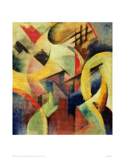 Small composition I-Franz Marc-Giclee Print