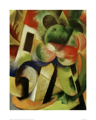 Small Composition II-Franz Marc-Giclee Print